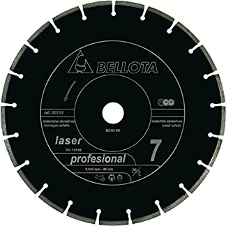 Bellota 50706-350 Disco Diamante Corte SECO Materiales ABRASIVOS SEGMENTADO Profesional 7 Laser 350MM