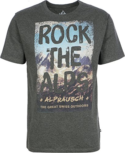 Alprausch Rock the Alps T-Shirt Grau Meliert