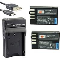 DSTE D-Li109 Li-ion Batterie (2-Pack) et chargeur USB costume pour Pentax K-R K-2 K-30 K-50 K-500 S2 S1