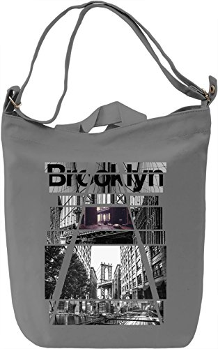 Brooklyn City NY Leinwand Tagestasche Canvas Day Bag  100% Premium Cotton Canvas  DTG Printing 