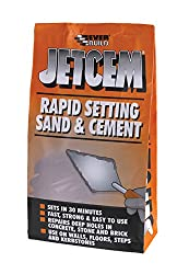 JetCem Premix Sand & Cement - Rapid cement for repairs walls, floors, steps and kerb-stones - 6kg - Grey