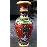 Pooja Creation Handcrafted Multti Colour Flower Vase Pot 9 Inch Showpiece For Table Decor, Room Decor, Home Decor And Diwali Gifts Purpose