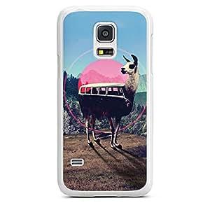 Samsung Galaxy S5 mini Hülle Case Cover Hard Case white - Lama