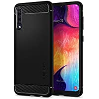 Spigen Cover Samsung Galaxy A50 Rugged Armor per Galaxy A50 Cover, TPU Design in Fibra di Carbonio Originale Custodia per Samsung Galaxy A50 / A50S / A30S - Nero