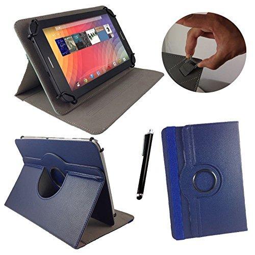 Asus Prosieben Entertainment Pad - Drehbare Tablet Schutzhülle mit Standfunktion + Touch Pen – Blau 8 Zoll 360