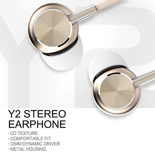 Rock Y2 auricolari stereo con microfono Bass