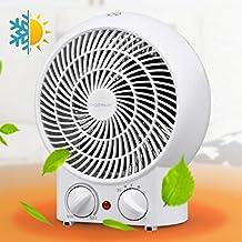 Aigostar Airwin White 33IEK - Calefactor de aire con termostato regulable, potencia de 2000 watios, función de aire caliente de dos niveles o ventilador con temperatura ambiente, color blanco.