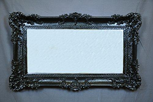 Espejo Negro Espejo grande marco estilo barroco Artificial Vintage cm 96x 56