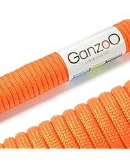 Ganzoo - Cavo per paracadute Paracord, in nylon ultra resistente, max 250 KG, 31 m, cavo non adatto a scalate arancione