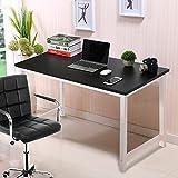 Keinode Computer-Schreibtisch breiter Desktop Holztisch groß PC Laptop Gaming Schreibtisch Computer Arbeitsstation für Home Office Schwarz