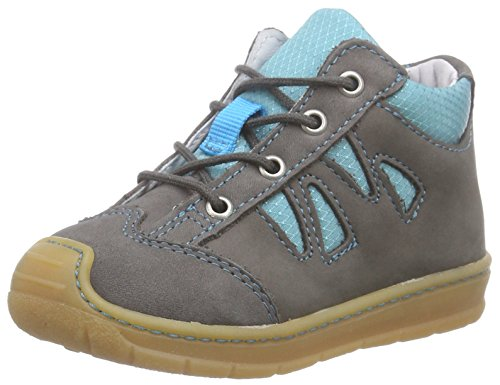 Ricosta Bandy, Oxfords mixte enfant Gris - Grau (meteor/wasser 469)