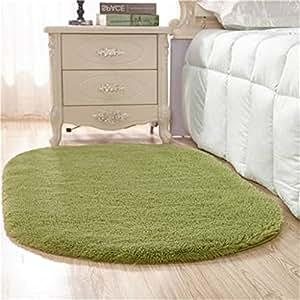 Hzz tappeto moquette ovale home soggiorno tavolino camera da letto moquette camera lenzuolo - Tappeti camera da letto amazon ...