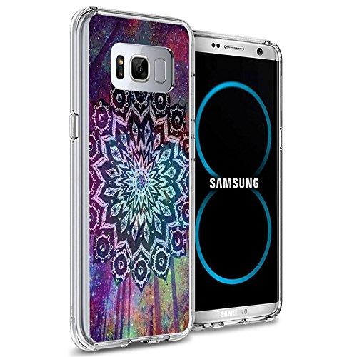 Samsung S8Plus Fall, Samsung Galaxy S8Plus viwell TPU Soft Case Gummi Silikon Colorful Baum Violett, KAA (6)