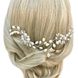 Chicer Crystal Wedding Hairpins Combs Accessories Wedding Rhinestone Headpieces for Women and Girls(Gold)