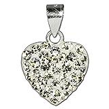SilberDream Ketten-Anhänger Herz 925er Sterling Silber weiß Kristalle GSH203W