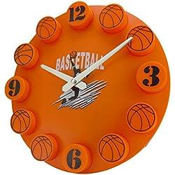 12pulgadas Baloncesto Mute Distressed Reloj 3d Digital Plastic–Reloj de pared