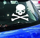 Car Stickers Home Adesivi per Auto Riflettenti per zappette, Adesivi per specchietto retrovisore, Fantasmi, Spiriti maligni, Cavalieri, Adesivi per Auto, (Color : White)