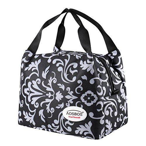 Aosbos Sac Repas Lunch Bag Sac à Déjeuner Sac Fraîcheur Portable Isotherme Taille Normal 6,5L