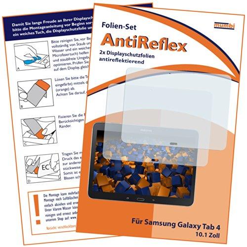2x mumbi Displayschutzfolie für Samsung Galaxy Tab 4 T530 T535 (10.1 Zoll) Schutzfolie AntiReflex matt