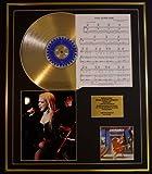 CYNDI LAUPER/CD GOLD DISC UND PHOTO UND SONG SHEET DISPLAY/LIMITIERTE AUFLAGE/COA/ALBUM, SHES SO UNUSUAL /SONG SHEET, TI