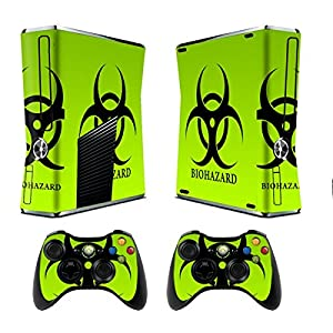 Design Skin Sticker fuer Xbox 360 Slim Console + Controller Decals