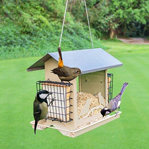 Wild Vogel Zubringer Vogelhaus Fütterung Draussen Vögel Beobachten Villa Gartenbau Garten Vogel Automatisch Zubringer. Cacoffay
