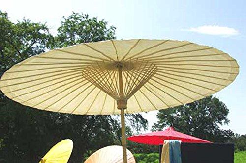 Der extravagante original Sonnenschirm aus Thailand, altweiss, super robuste Bambus Qualität