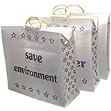 Large Capacity Shopping Bag/Grocery Bag/Vegetable Bag for Everyday Use with Top Zipper. Size: 45 x 45.5 x 14 cm (1 pcs)