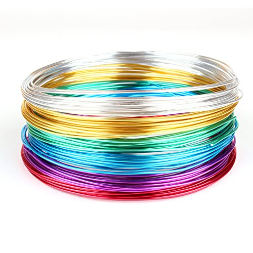 Goodwei Creacraft Aluminium Schmuckdraht-Set Basic 6 Farben, 30m x (5m je Farbe) (1 mm)