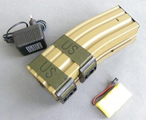 AIRSOFT M4 REVISTA MAG TAN ARENA DE COLOR CAQUI DE 1000 RDS ELECTRICO DE SONIDO LEY