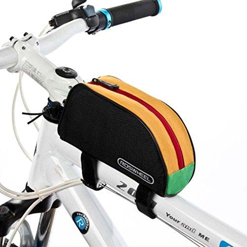 Tofern Radfahren Fahrrad Fahrrad Rahmentasche Oberrohrrahmentasche Vorderrohr Pannier - 8 Farben Mehrere Farb