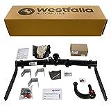 Westfalia Abnehmbare Anhängerkupplung für Sharan (BJ 05/00-08/10), Galaxy (BJ 05/00-2006), Alhambra (BJ 05/00-09/10) im Set mit 13-poligem fzg.-spez Elektrosatz