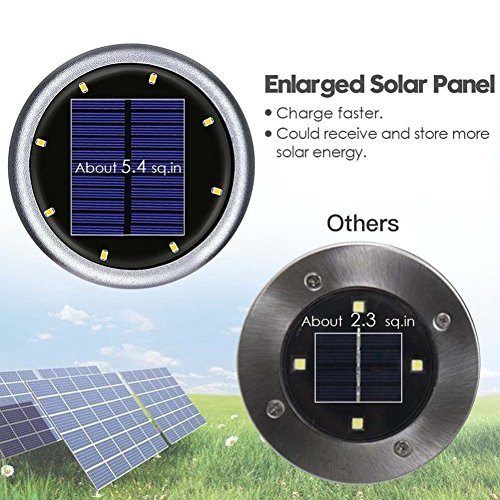 4Pack alimentata solare Lampada da pavimento esterno 8luci LED impermeabile LED Solar Path Lights giardino paesaggio illuminazione lampada per YARD auffahrt Rasen Pathway