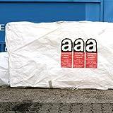 Plattenbag Asbest 260 x 125 x 30 cm, Schürze 3-seitig + Deckel mit Asbestdruck, beschichtet, uv-stabilisiert, 4 Hebeschlaufen, SWL 1500 kg, SF 5:1