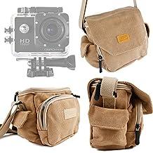 DURAGADGET Bella Borsa Marrone Per Action Sport Cam QUMOX SJ4000   SJ5000 (WIFI) / Polaroid Cube Videocamera HD / GoPro Hero4 Session / Session Surf / Hero HD 4 / 3+ / 3 / 2