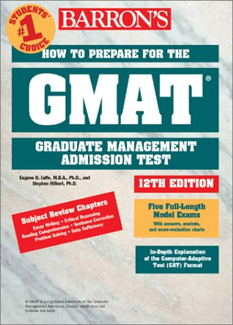 How to prepare for the GMAT. 12th edition par Eugene D. Jaffe