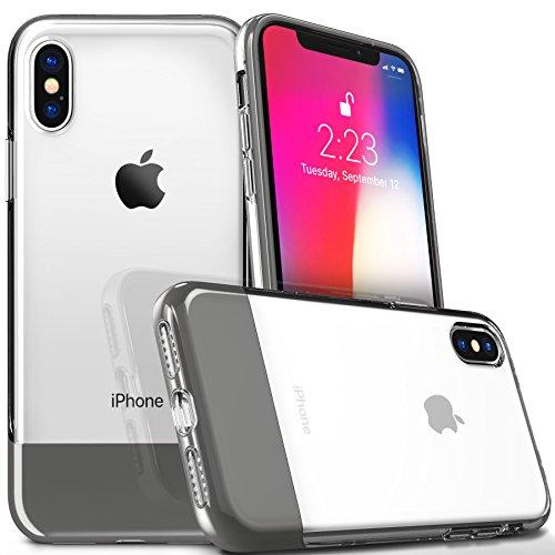 Für Apple iPhone X Clear Case Cover [2007Serie], Titan Gray