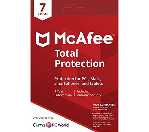 McAfee Total Protection | Edition 2018 von der Herstellerseite | 7 Geräte | 1 Jahr | mit den neusten Updates FFP(Frustfreie Verpackung)