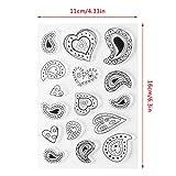 Ruda clair en silicone cachet Amour décoratifs DIY pour agenda Scrapbook Album de carte