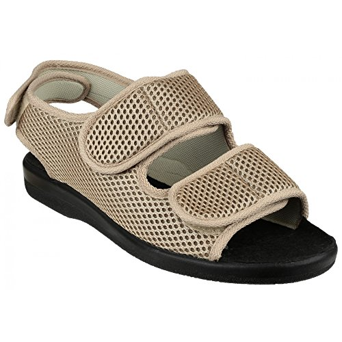 GBS Med Southmead - Chaussonsà sangles velcro - Femme Beige
