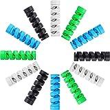 12 Stück Typ C Ladegerät Kabelschoner, Flexibler Silikon Micro USB Schutz, Maus Kabelschutz, Anzug für alle Handys (12 Stück, Schwarz, Grau, Blau, Grün)