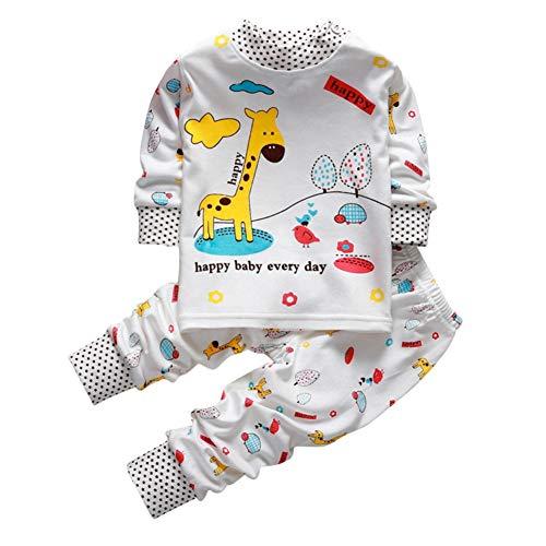 Shiningup Baby Boy Girl Pyjama Set niedlichen Schlafanzug 2 Stück Baumwolle Cartoon Kleinkind Homewear