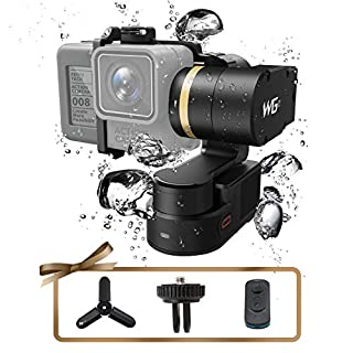 Feiyu WG2 3-Axis Gimbal, FeiyuTech Updated Remote Waterproof Wearable Action Camera Gimbal for GoPro HERO/AEE, SJCam/YI 4K / Similar Dementions, with Carrying Case and Tripod, APP Control