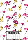 MATHEMATIK: Matheheft A4 Lineatur 28 I Extrem dick: 120 Seiten I XXL Edition 'Flamingos' I Viel Platz für Notizen im Unterricht I für Mittelstufe ... für Schüler der Realschule und Gymnasium