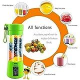 EAYIRA Portable Electric USB Juicer Bottle Blender Drink Bottle Cup Juice Maker Machine (Multicolour)