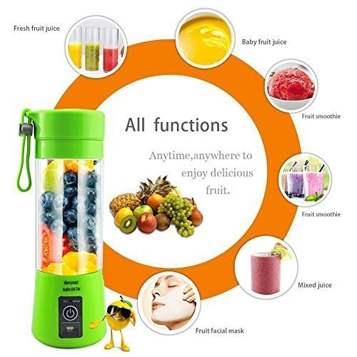 EAYIRA Portable Electric USB Juicer Bottle Blender Drink Bottle Cup Juice Maker Machine (Multicolour)