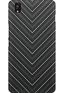 AMEZ designer printed 3d premium high quality back case cover for One Plus X (stylish grey)