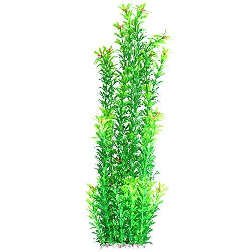 JDYW Künstliche Aquarium Wasserpflanzen Groß Künstliche Pflanzen Plastikpflanzen mit Blumen Aquariumpflanze Aquarium Dekoration 20.5 Zoll/ 52 cm