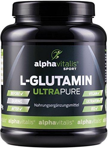 L-Glutamin Pulver ULTRAPURE - 99,95% rein - 1000g - neutral - vegan - glutenfrei - laktosefrei - feinstes L-Glutamin Pulver aus Deutscher Herstellung EINWEG