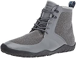 Vivobarefoot Mens Saami Lite M Synth Walking Shoe, Grey, 43 EU/10-10.5 M US